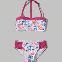 sweetheart bandeau two-piece swimsuit