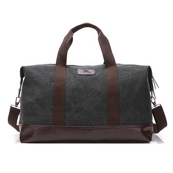 Men Vintage Canvas Men Travel Bag Large Capacity Handbags Women Weekend Carry On Luggage & Bags Leisure Duffle Bag