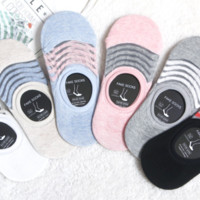 See-Through Colorful Lines Footies 6 Colors