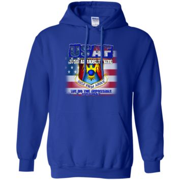 UNITED STATES AIR FORCE : 375TH AIR MOBILITY WING :: G185 Gildan Pullover Hoodie 8 oz.