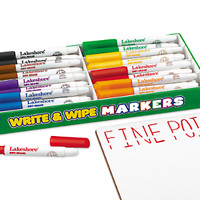 Write & Wipe Thin-Line Markers - Class Pack at Lakeshore Learning