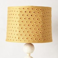 Dotty Eyelet Lampshade by Anthropologie