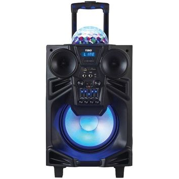 "Naxa(R) NDS-1001 10"" Portable DJ/PA Speaker with Bluetooth(R) & Disco Dome Light"