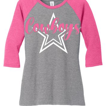 pink dallas cowboys t shirt