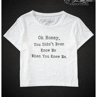 PRETTY LITTLE LIARS OH HONEY BOXY CROP GRAPHIC T