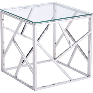 Cage Side Table Stainles Steel