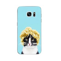 Mr. Noodles Phone Case For Samsung Galaxy C5 C7 Shell S4  S6 S7 Edge Plus Back Cover Protection TPU Cute Funny Cats Design Painted