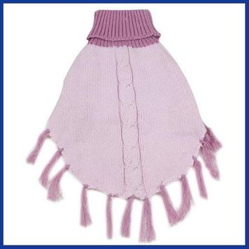 Tassel Design Pet Clothes Dog Sweater Fashion Pets Product Puppy Cat Apparel Pink Color Wrap Cappa Pullover S/M/L