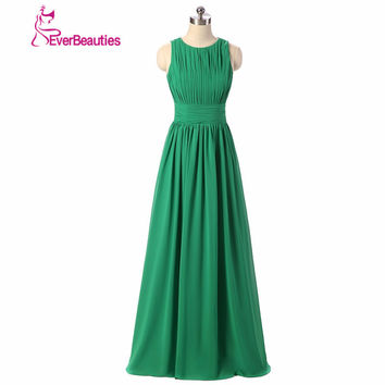 Royal Blue Emerald Green Chiffon Dress Bridesmaid Dresses 2017 Prom Long vestido de festa Royal Blue Bridesmaid Dress