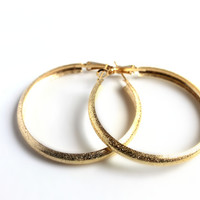 """Shimmer Down"" Gold Hoop Earrings"