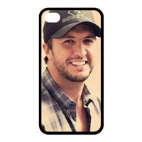 Custom Luke Bryan Case for iPhone 4 4s Fits Back Cover Cases PC4648