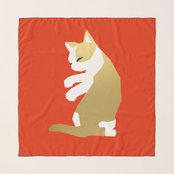 Fortune Cat (Chinese New Year) Scarf