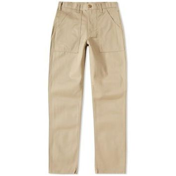 SLIM 4 POCKET FATIGUE PANTS - KHAKI TWILL