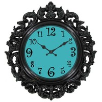 Black & Turquoise Victorian Style Wall Clock | Hobby Lobby | 451146