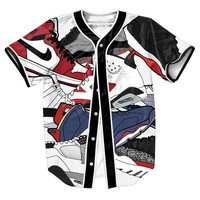 Jordan Shoe Style Baseball Jersey  Clothing tees