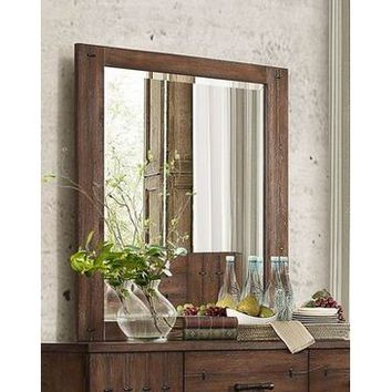 Homelegance Brazoria Mirror In Natural Distressed Wood