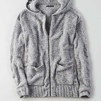 AEO Ahhhmazingly Soft Zip-Up Hoodie, Gray
