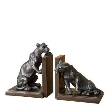 Bronze Bookend Set of 2 | Eichholtz Lioness