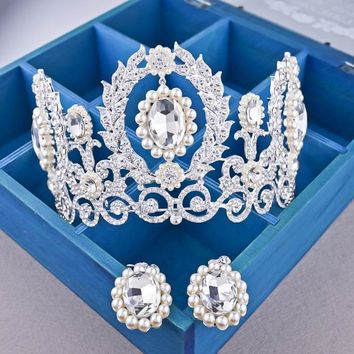 "NEW ""Nadia"" Tiara + Earrings Birthday Set"