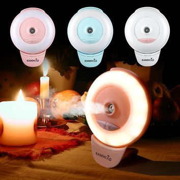 EASEHOLD Oil Diffuser Ultrasonic Air Humidifier Anywhere for Smartphone LED Ring Selfie Light Night Darkness Selfie Enhancing