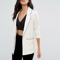 River Island Pyjama Style Jacket at asos.com