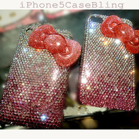 iPhone 4 Case, iPhone 4s case, iPhone 5 Case, Bling iPhone 4 case, iPhone 5 bling case, Cute iPhone 4 case ribbon, iPhone 4 case bow