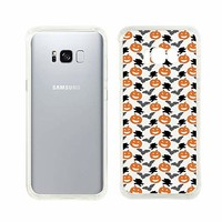 Cute Pumpkin Halloween Pattern Transparent Silicone Plastic Phone Case for Samsung Galaxy S8 Phone_ SUPERTRAMPshop (Samsung S8)