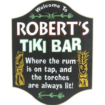 Tiki Bar Custom Wooden Novelty Sign