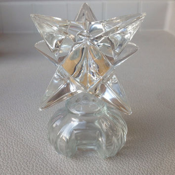 Beautiful Glass Perfume decanter with large glass star topper