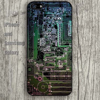 Retro Circuit board green iphone 6 6 plus iPhone 5 5S 5C case Samsung S3,S4,S5 case Ipod Silicone plastic Phone cover Waterproof