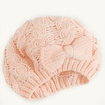 Bow Cable Knit Beret | Cold Weather | rue21