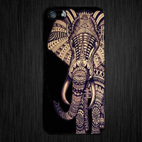 aztec elephant. Iphone 5S and iphone 5C case.