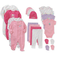 Walmart: Garanimals Newborn Baby Girl Perfect Shower Gift 21 Piece Set