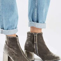 MAFIA Velvet Metal Heel Boots - New In Shoes - New In