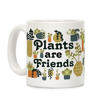 Plants Are Friends Retro Ceramic Coffee Mug by LookHUMAN