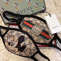 GUCCI new embroidered alphabet mask (safely disinfected)