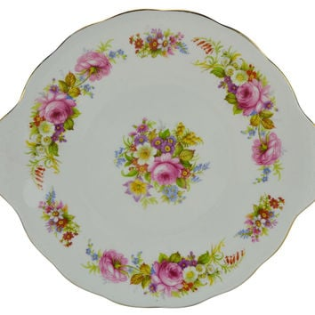 Floral Cake Serving Plate Chatsworth by Royal Albert English