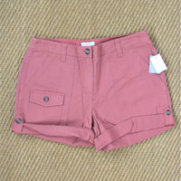 Charter Club Saturday Style Adjustable Rolled Cuff Chino Cargo Shorts NWT