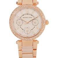 Michael Kors - Parker crystal-embellished rose gold-tone watch