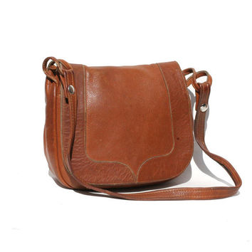 Mocha Brown Leather Shoulder Bag
