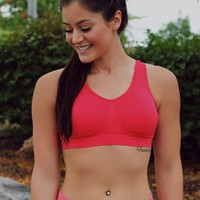 Style Runner Sports Bra - Coral