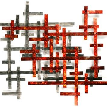 Matrix Contemporary Wall Sculpture by Metal Perspectives