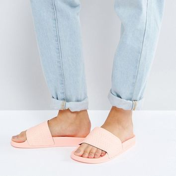 adidas Originals Haze Coral Adilette Slider Sandals at asos.com