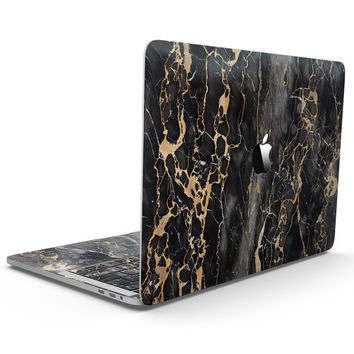 Black and Gold Marble Surface - MacBook Pro with Touch Bar Skin Kit