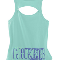Mint Open Back Cheer Tank