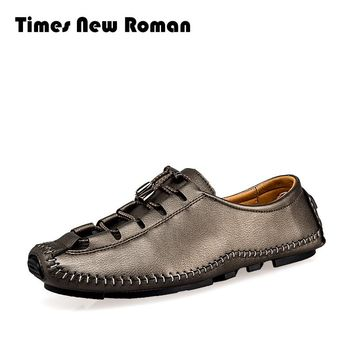 Leather Men Shoes Soft Moccasins Men Fashion Men Flats Comfy Driving Shoes