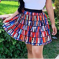FENDI Fashion Women Casual F Letter Print Short Skirt