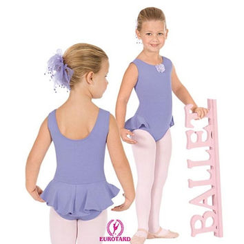 Eurotard 1703 Marissa Tank Leotard with Flutter Skirt - Child