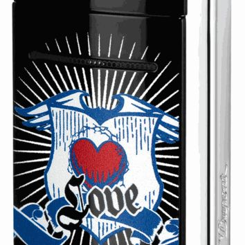 S.T. Dupont MiniJet Black Knight Love Torch Flame Lighter