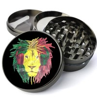 Rasta DJ Lion Head Extra Large 5 Piece Spice & Herb Grinder